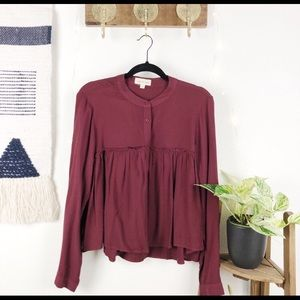 Anthropologie Long sleeve button down shirt blouse